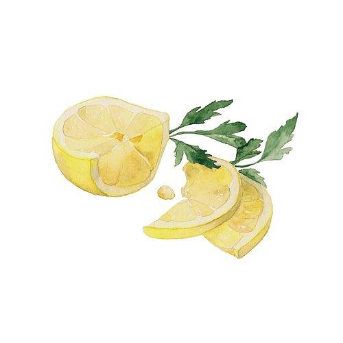 Lemon and parsley